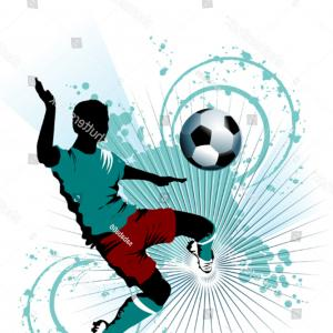 Soccer Blue Background Vector Graphics: Soccer European Championship France Abstract