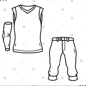 Baseball Uniform Template Vector: Vector Template For Sporty Style Tees Gm