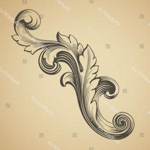 Vector Vintage Baroque Scroll Design: Vector Vintage Baroque Design Frame Pattern