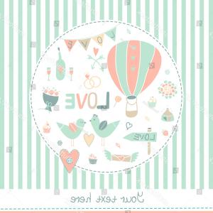 Married In Vegas Vector Art: Vector Vintage Wedding Background Cute Design