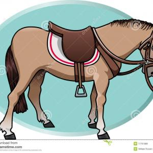 Horse Saddle Front Vector: Vector Western Clip Art Of A Cowboy Sheriff On Horseback In Front Of A Star By Hit Toon