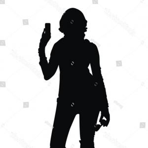 Young Woman Silhouette Vector: Vector Set Young Women Silhouette Strike