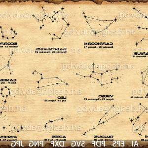 October Zodiac Constellation Vector: Vector Zodiac Constellations Ai Eps Pdf