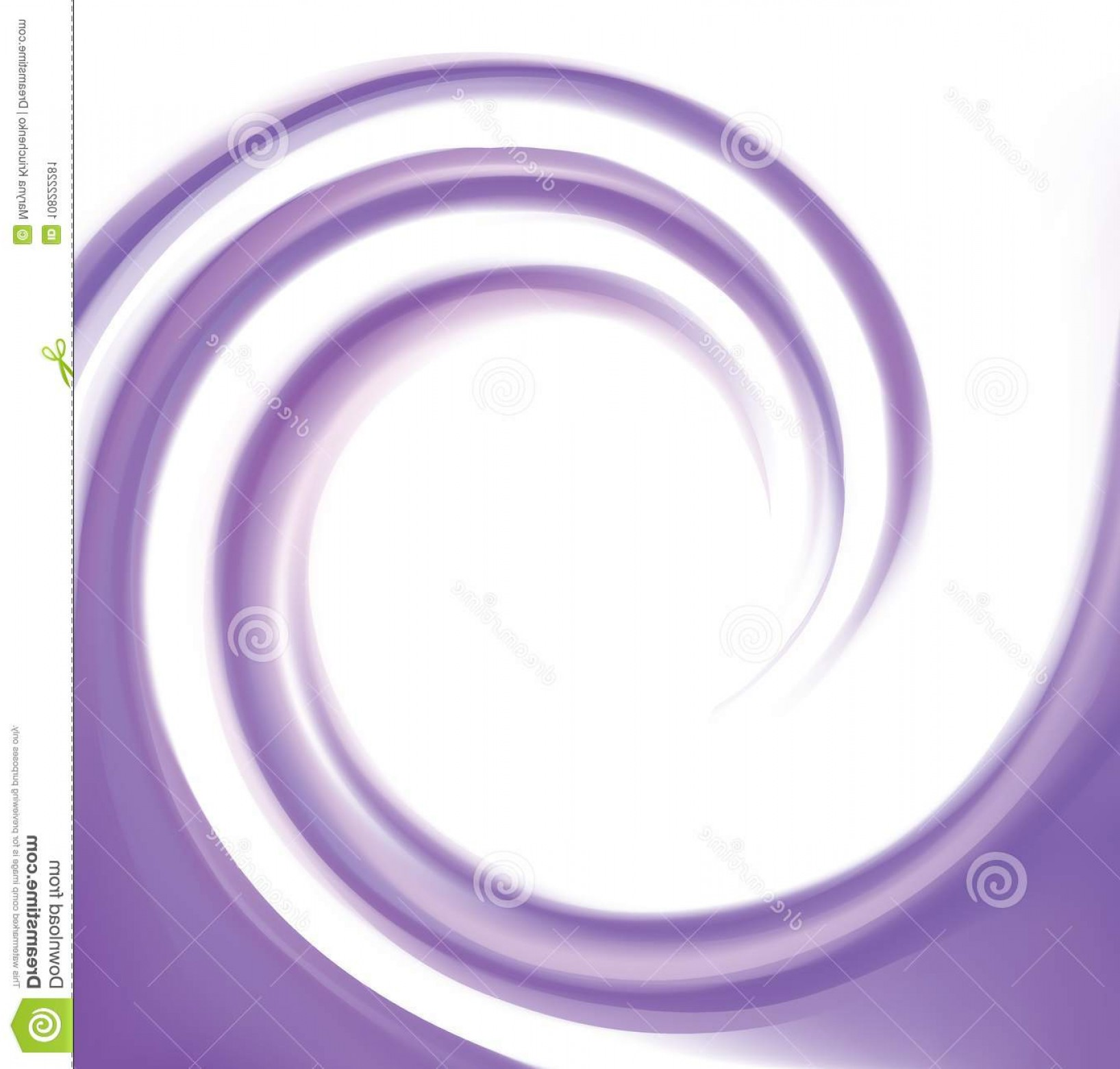 Violet Swirl Design Vector: Vector Abstract Violet Swirl Background Glossy Radial Rippled Curvy Fond Space Text White Border Gel Fluid Indigo Image