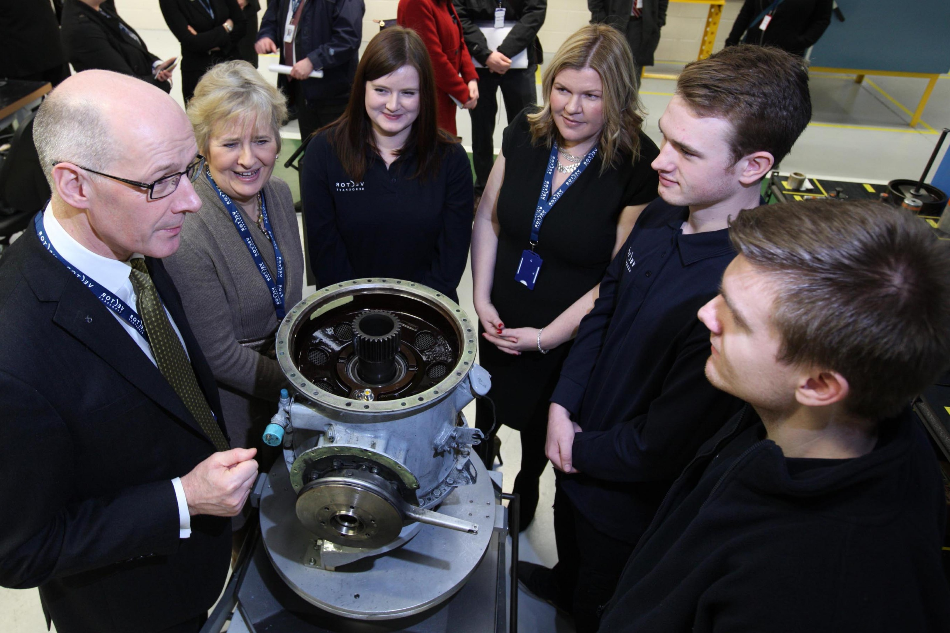 Vector Aerospace Engine Services Atlantic: Vector Aerospace S New As Ecureuil Capability Opened By Deputy First Minister For Scotland