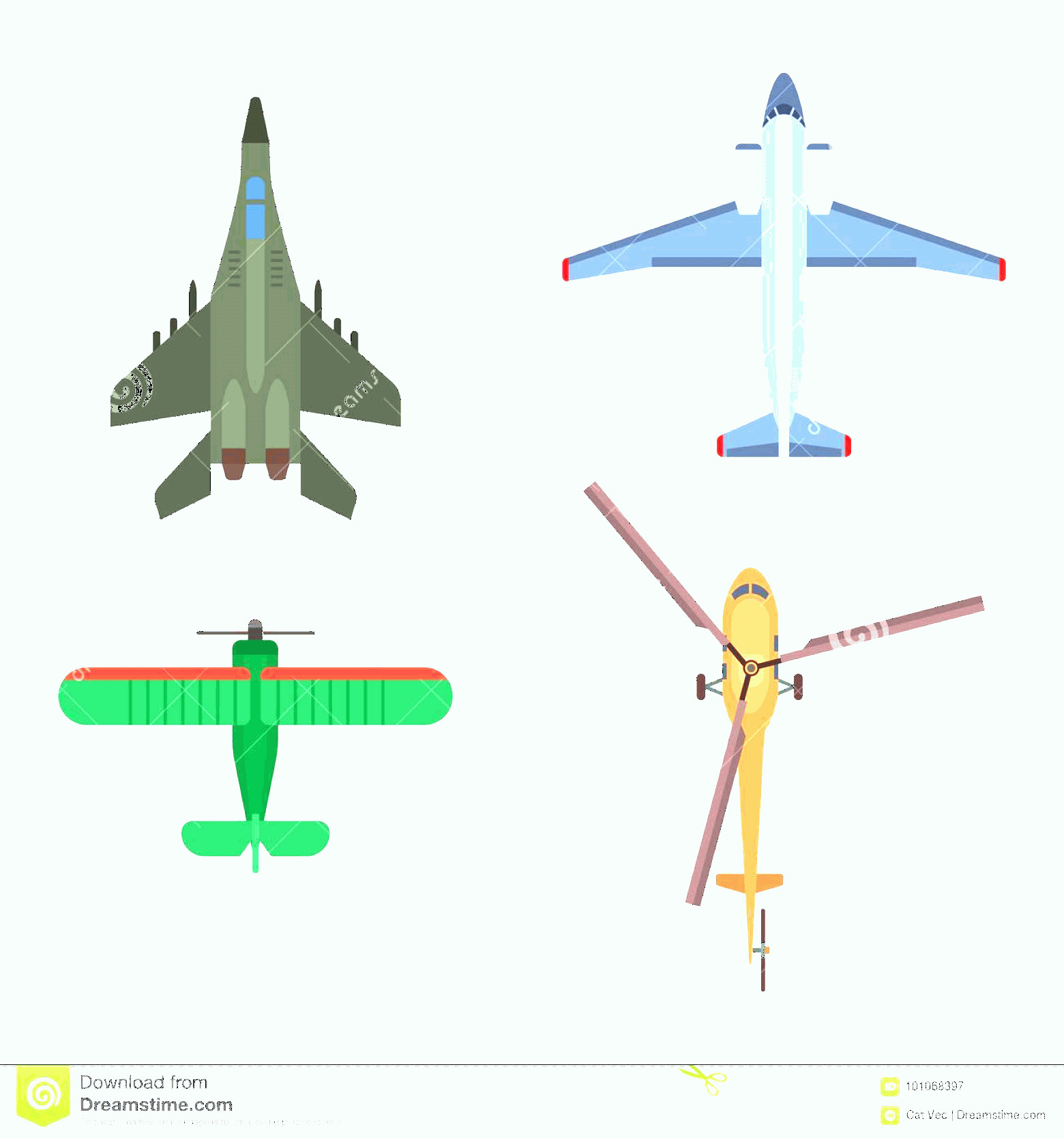 Aviation Vector Designs: Vector Airplane Illustration Top View Aircraft Transportation Travel Way Design Journey Object Plane Passenger Trip To Image