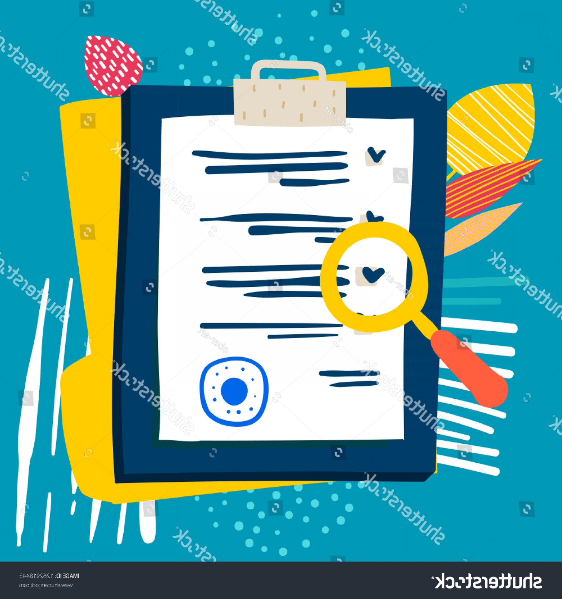 Vector Application Form: Vector Application Form Document Stamp Magnifier