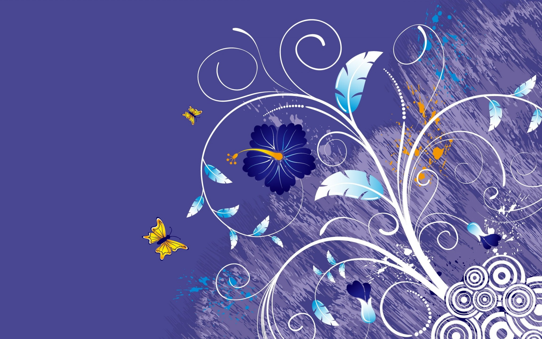Purple Butterfly Wallpaper Vector: Vector Background Of Flowers And Butterflies Butterfly Wallpaper Mbbbb