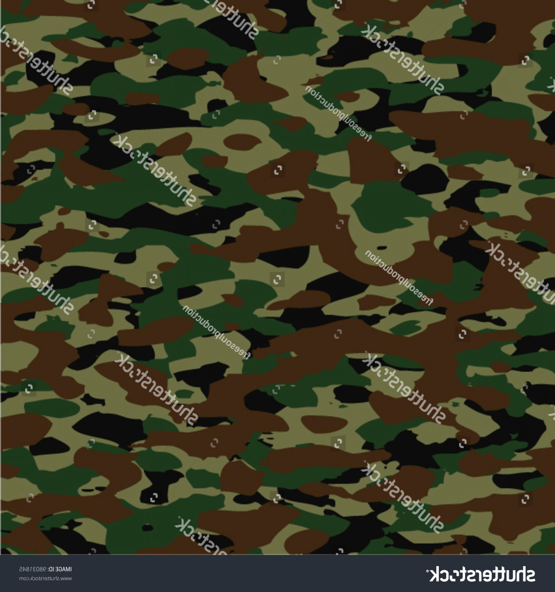 Army Camouflage Pattern Vector: Vector Background Pattern Summer Army Camouflage