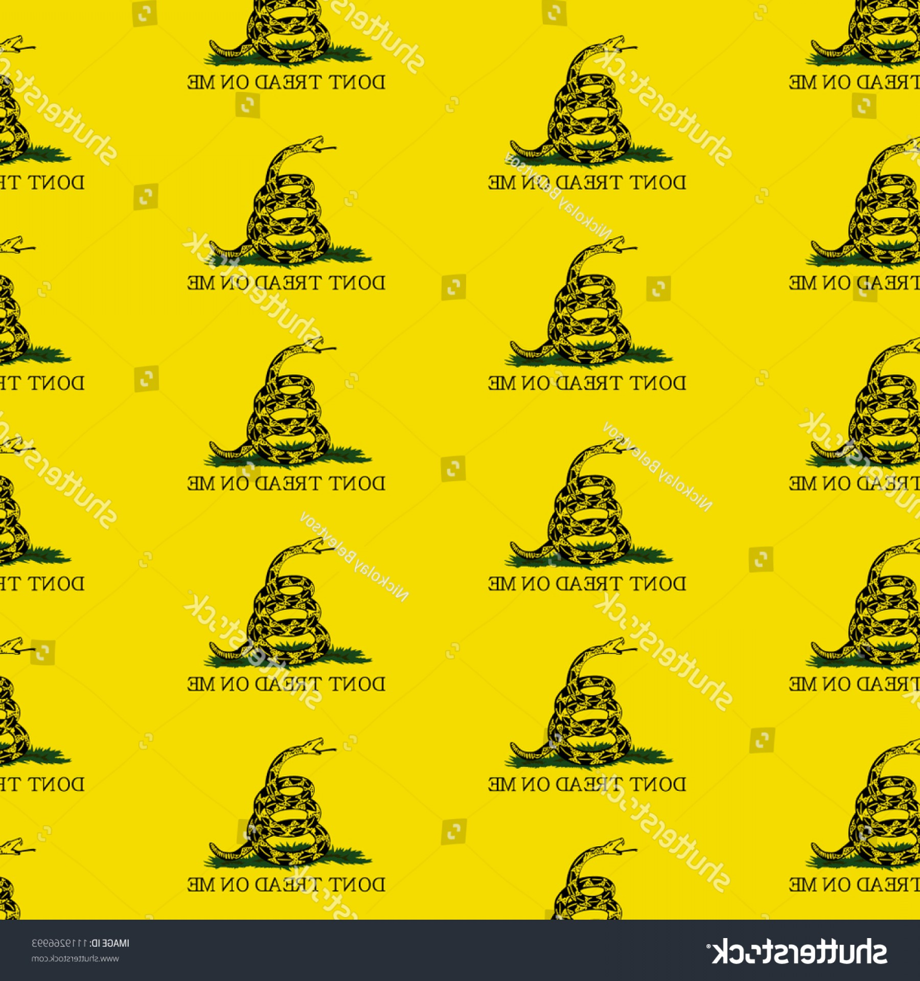 Gadsden Flag Vector Art: Vector Background Picture Rattlesnake Gadsden Flag