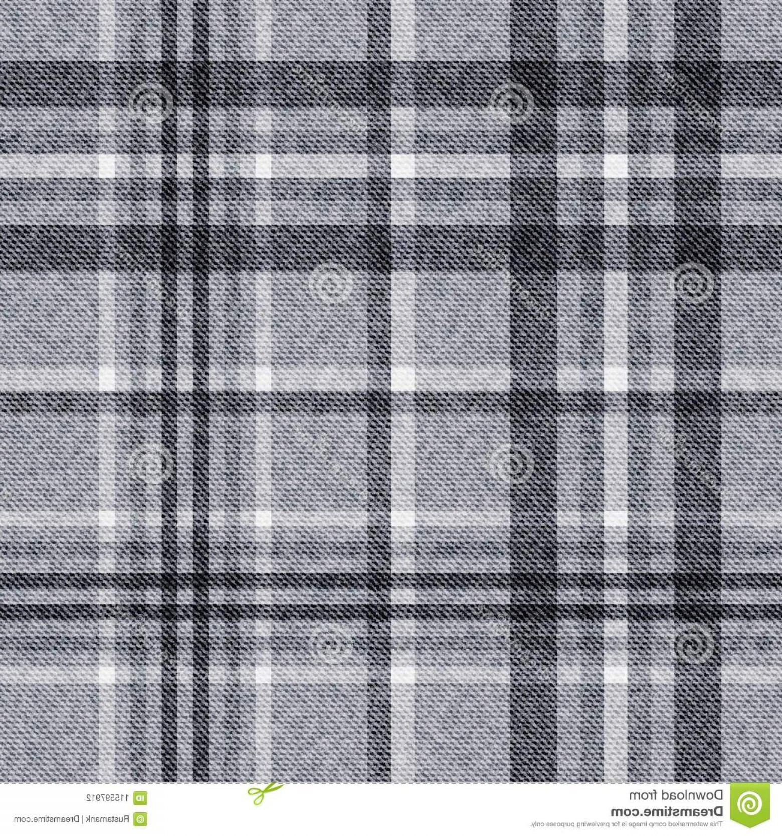 Fabric Vector Background: Vector Background Template Checkered Seamless Plaid Fabric Image