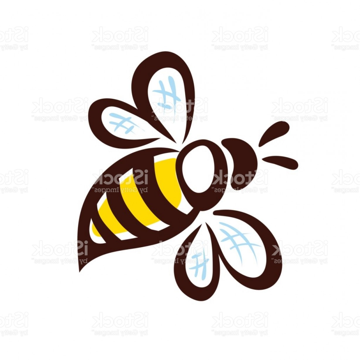 Vector Bee Icon: Vector Bee Icon Pretty Bee With Honeycomb Vector Image Gm