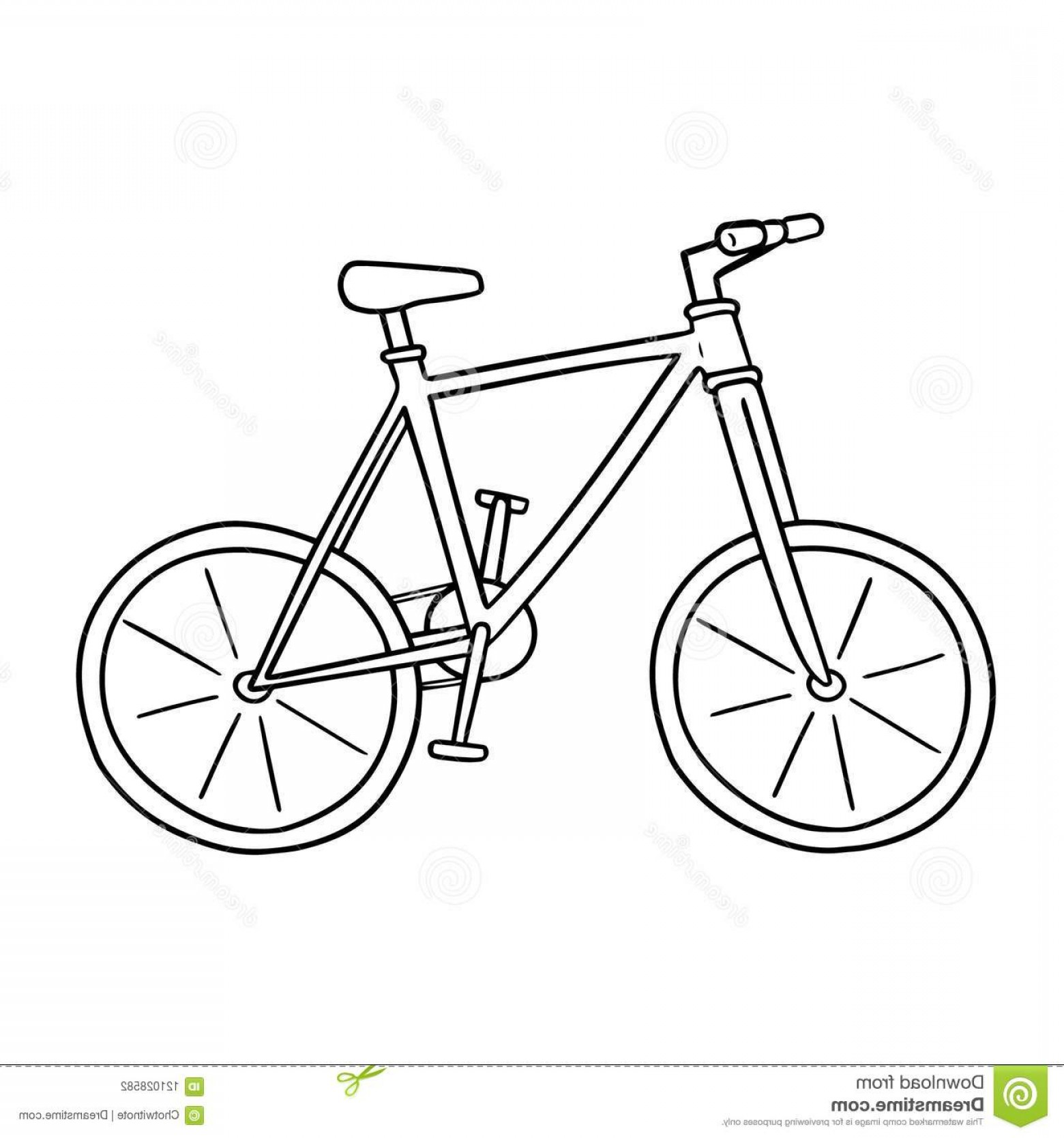 Bicycle Crank Vector Of Artwork: Vector Bicycle Hand Drawn Cartoon Doodle Illustration Vector Bicycle Image