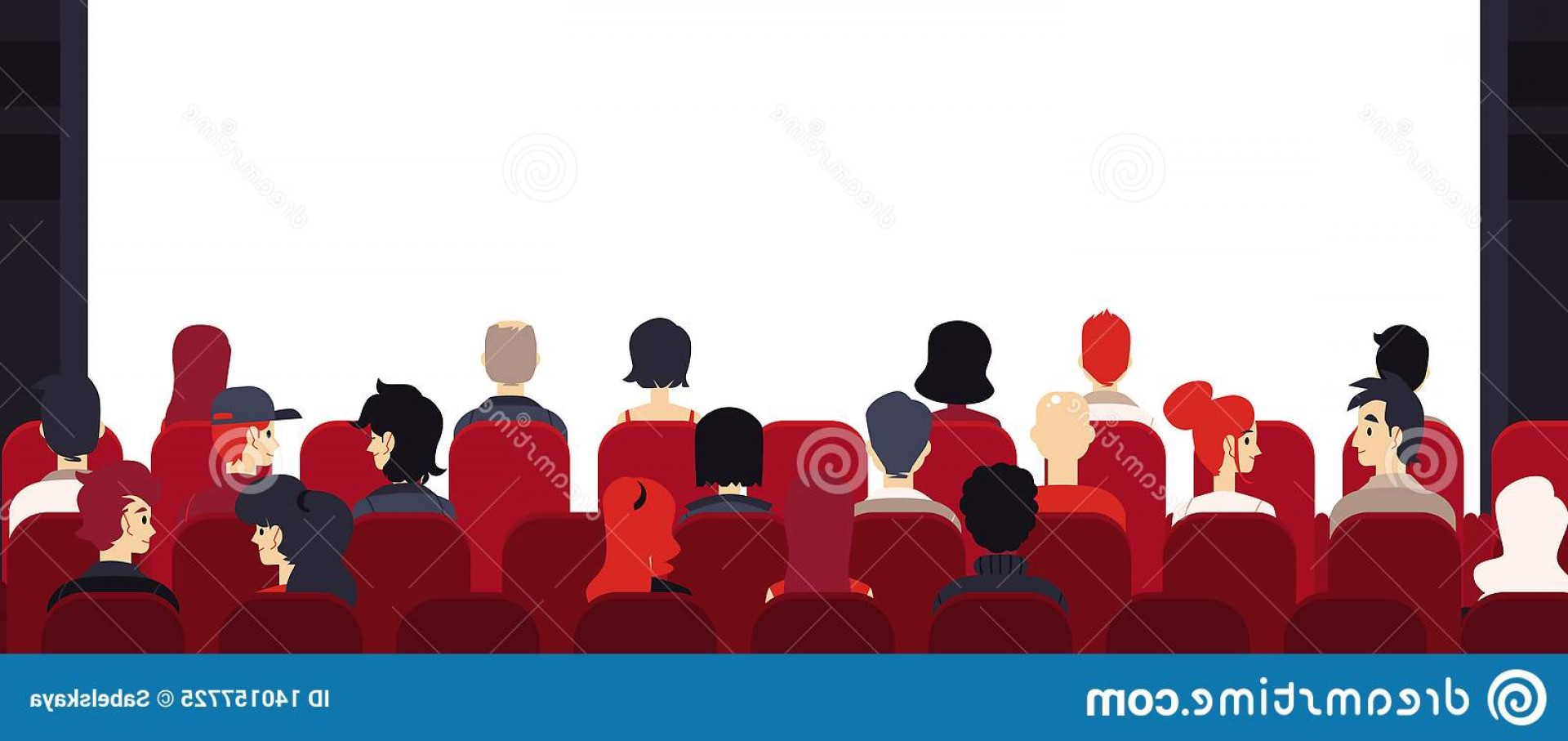 Vector Stage Audience: Vector Big Audience People Chairs Empty Stage Sitting Corporate Training Seminar Lecture Presentation Annual Report Image