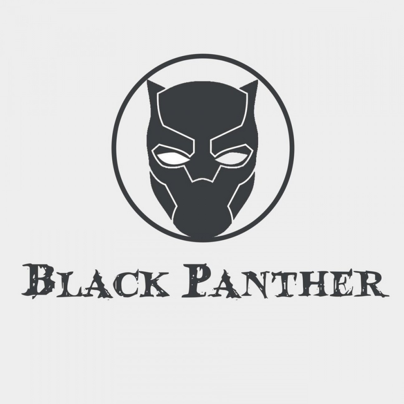 Panther Vector: Vector Black Panther Face Logo Byentry