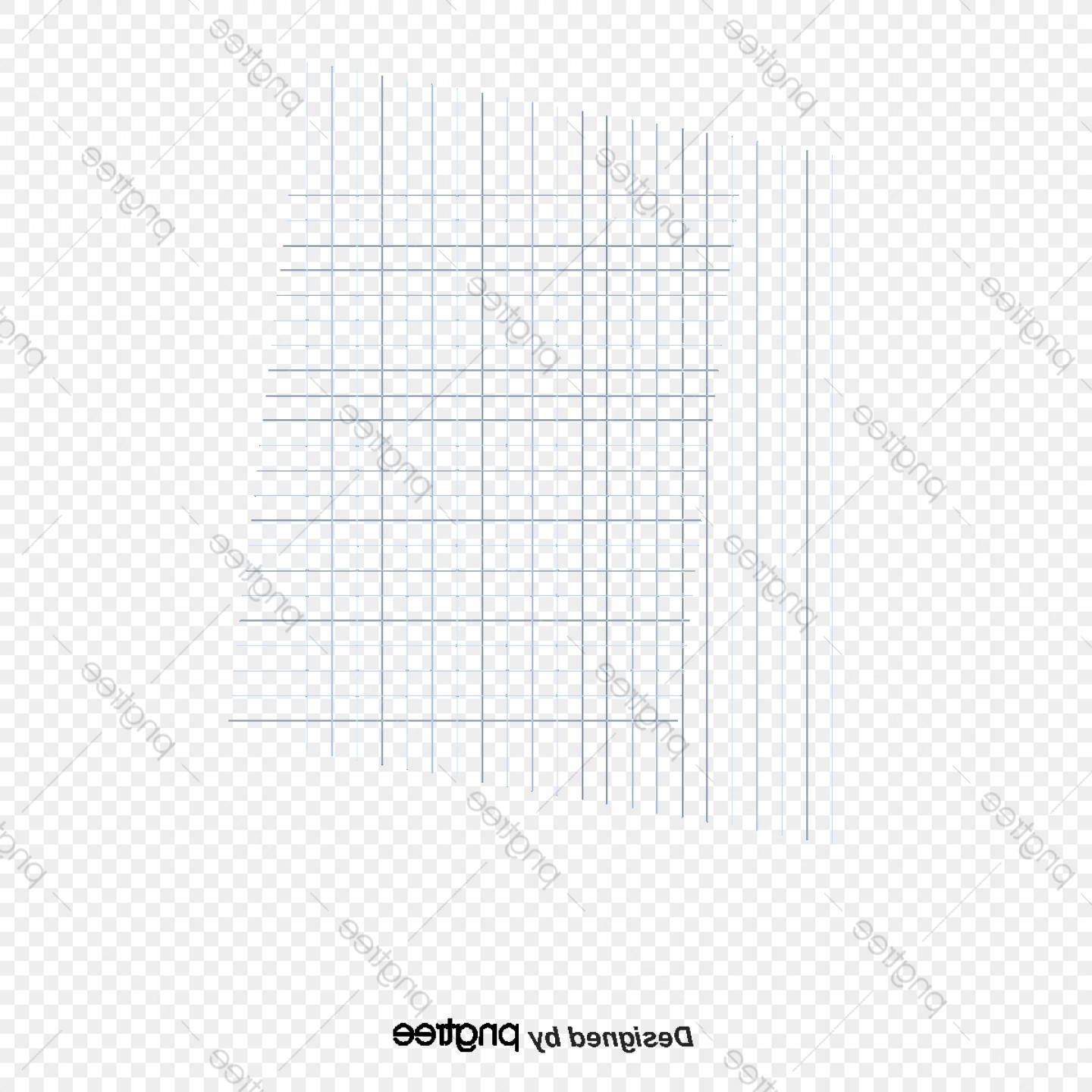 Perspective Vector: Vector Blue Square Grid Lines Perspective