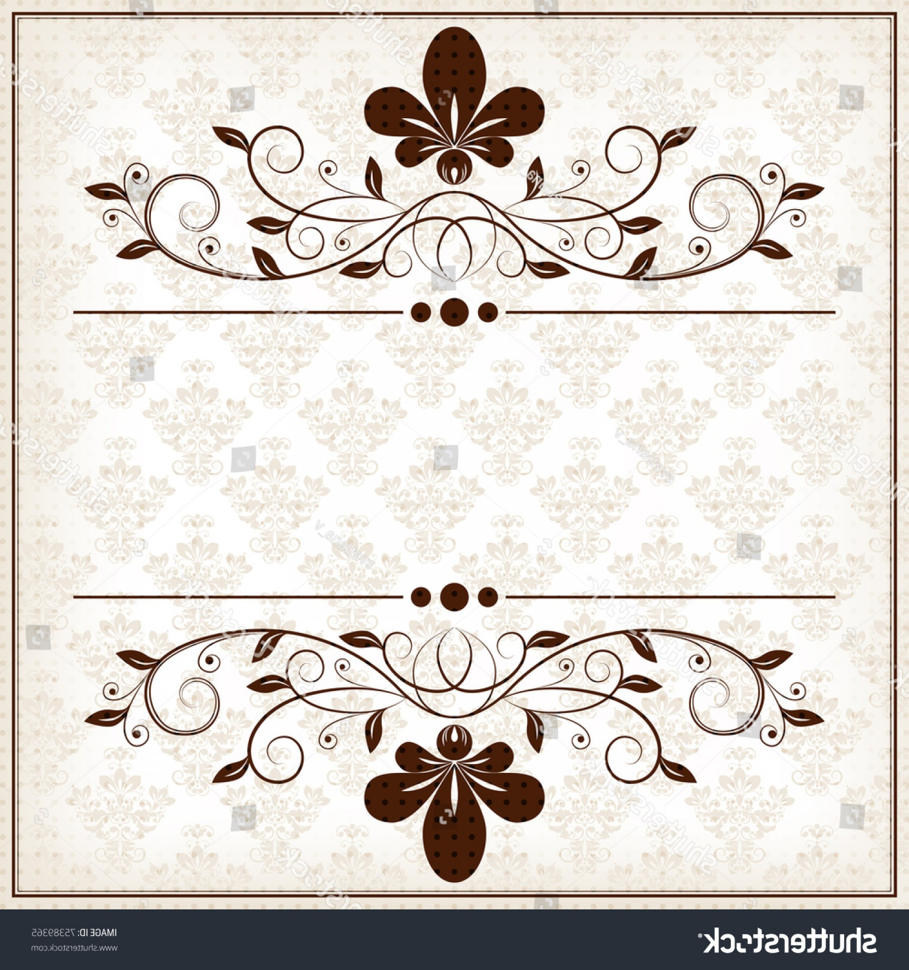 Floral Vector Calligraphy: Vector Calligraphy Vintage Floral Background Decorative