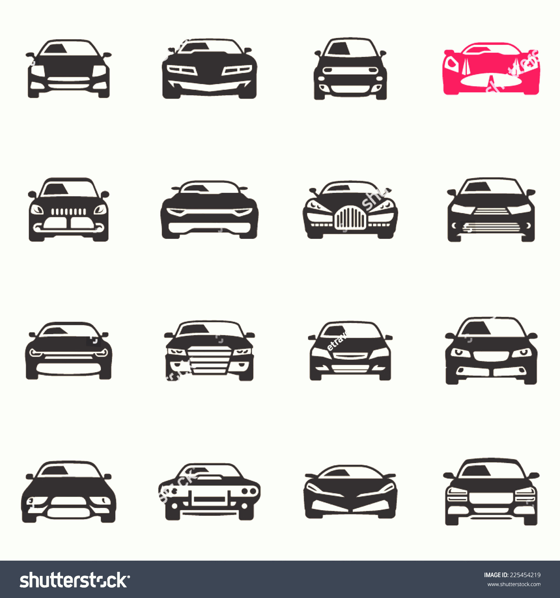 Vector Car: Vector Car Icons Front View