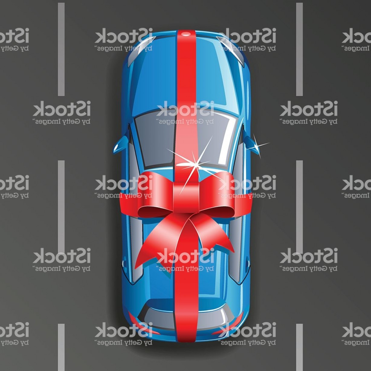 Vector Car Wrapped: Vector Car Wrapped Gift Ribbon Gm