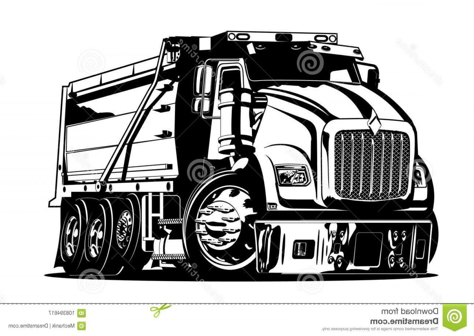 Dump Truck Vector Black And White: Vector Cartoon Dump Truck Available Eps Vector Format Separated Groups Layers Easy Edit Vector Cartoon Dump Truck Image