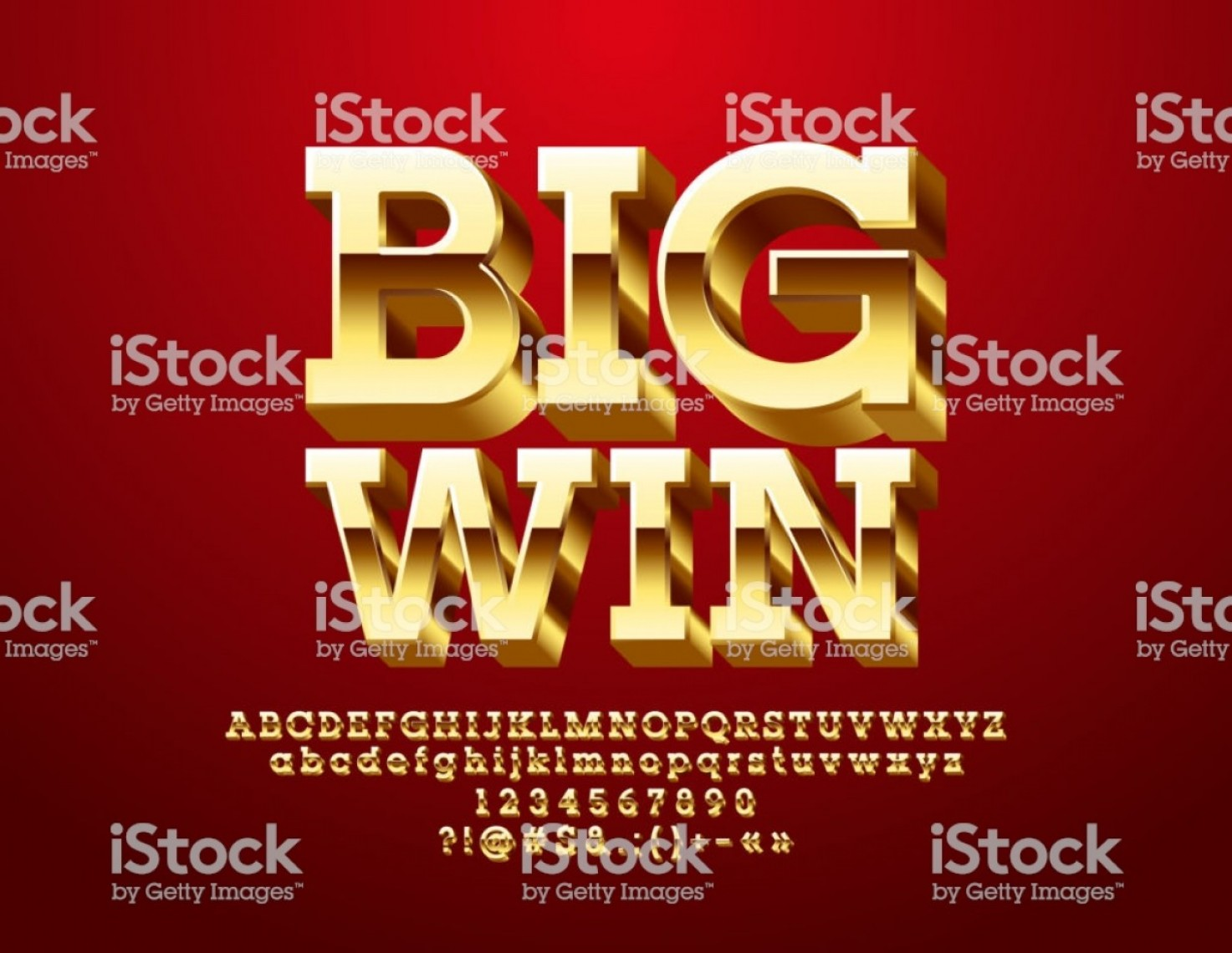 Windows 8 Phone Icon Vector: Vector Casino Icon Big Win With Golden D Font Gm