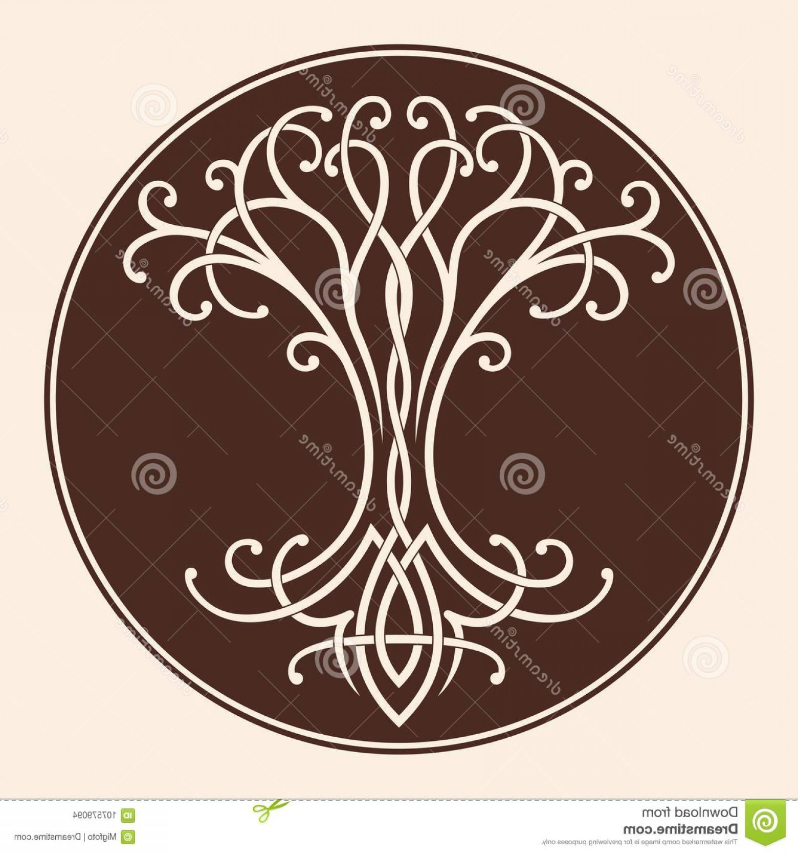 Celtic Tree Vector: Vector Celtic National Drawing Tree Life Circle Celtic Tree Life Image