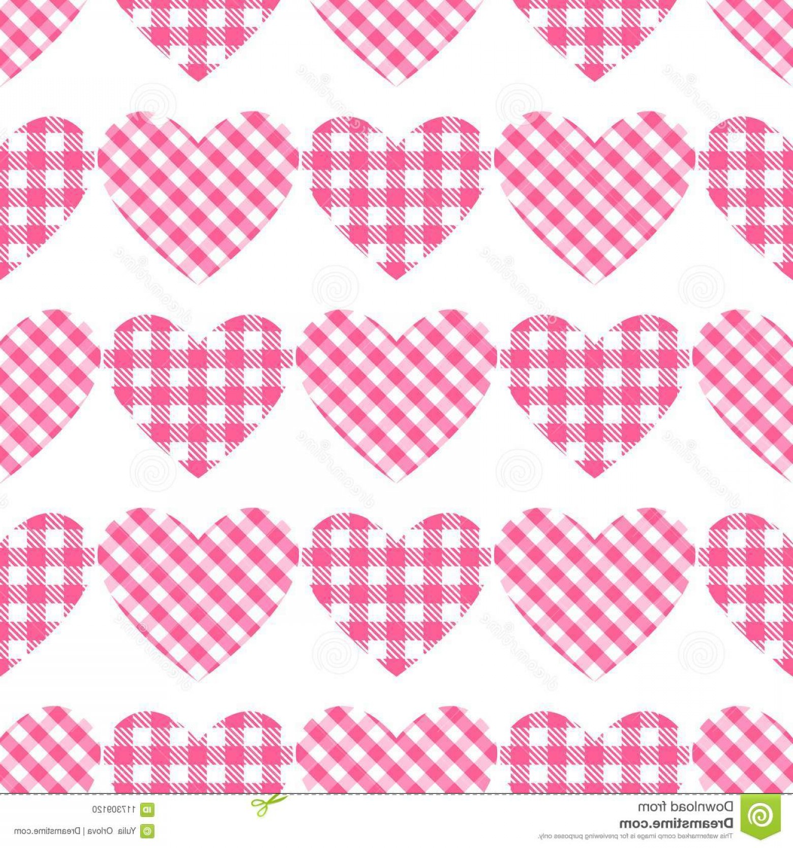 Vector Checkered Flag Heart: Vector Checkered Hearts Seamless Pattern Cage Vichy Pattern Checkered Hearts Seamless Pattern Cage Vichy Pattern Vector Image