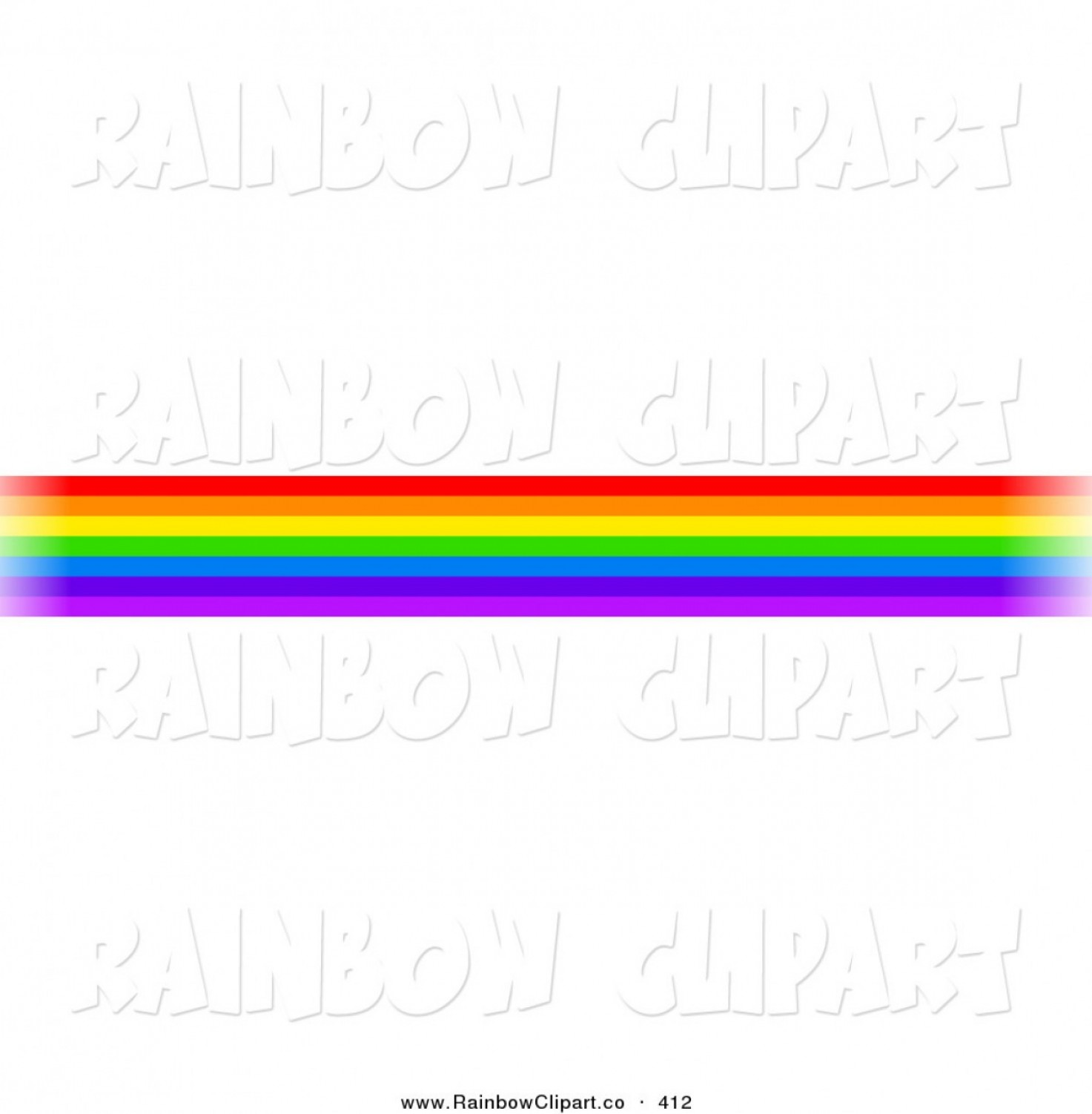 Rainbow Free Line Vector: Vector Clip Art Of A Border Of Rainbow Lines On White By Prawny