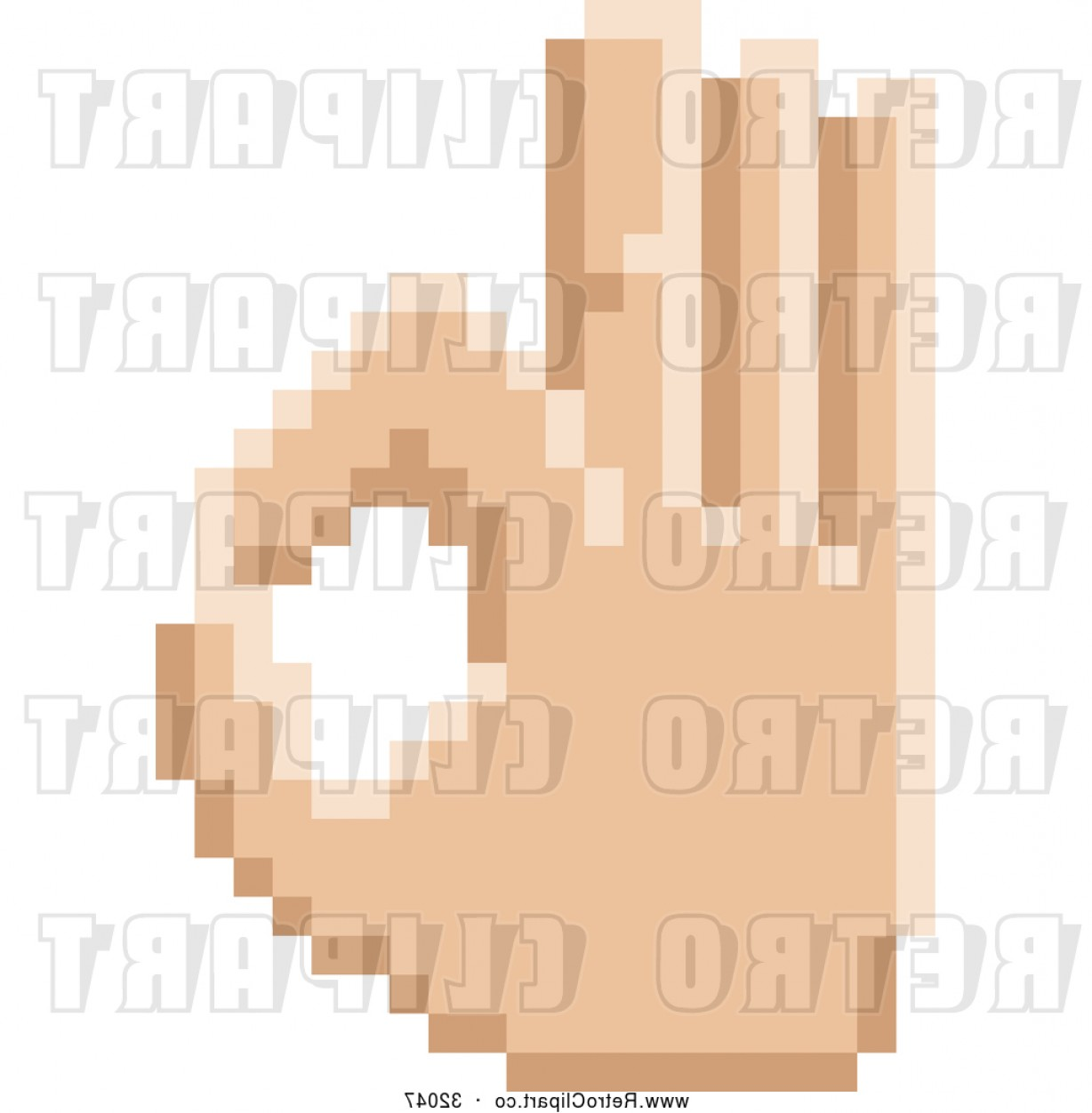 Hand Vector Clip Art: Vector Clip Art Of A Retro Bit Pixel Art Styled Hand Gesturing Okay By Atstockillustration