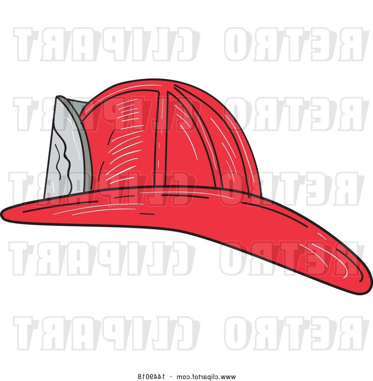 Fighter Helmet Vectors: Vector Clip Art Of Retro Sketched Fire Fighter Helmet By Patrimonio