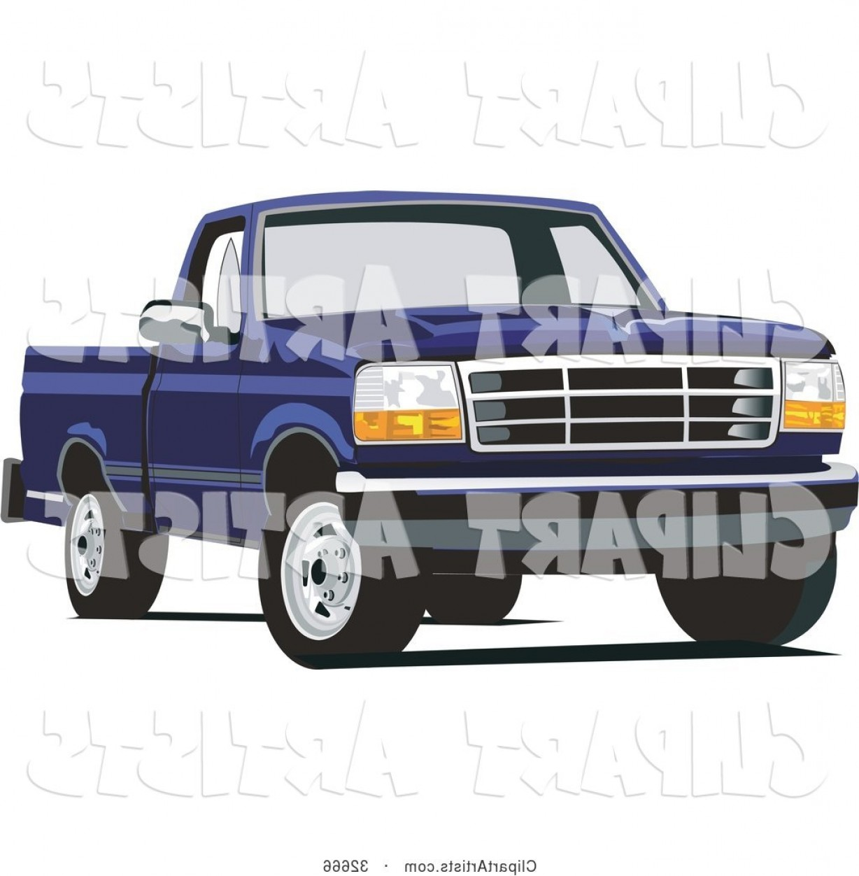 F150 Vector: Vector Clipart Blue Ford F Truck By David Rey