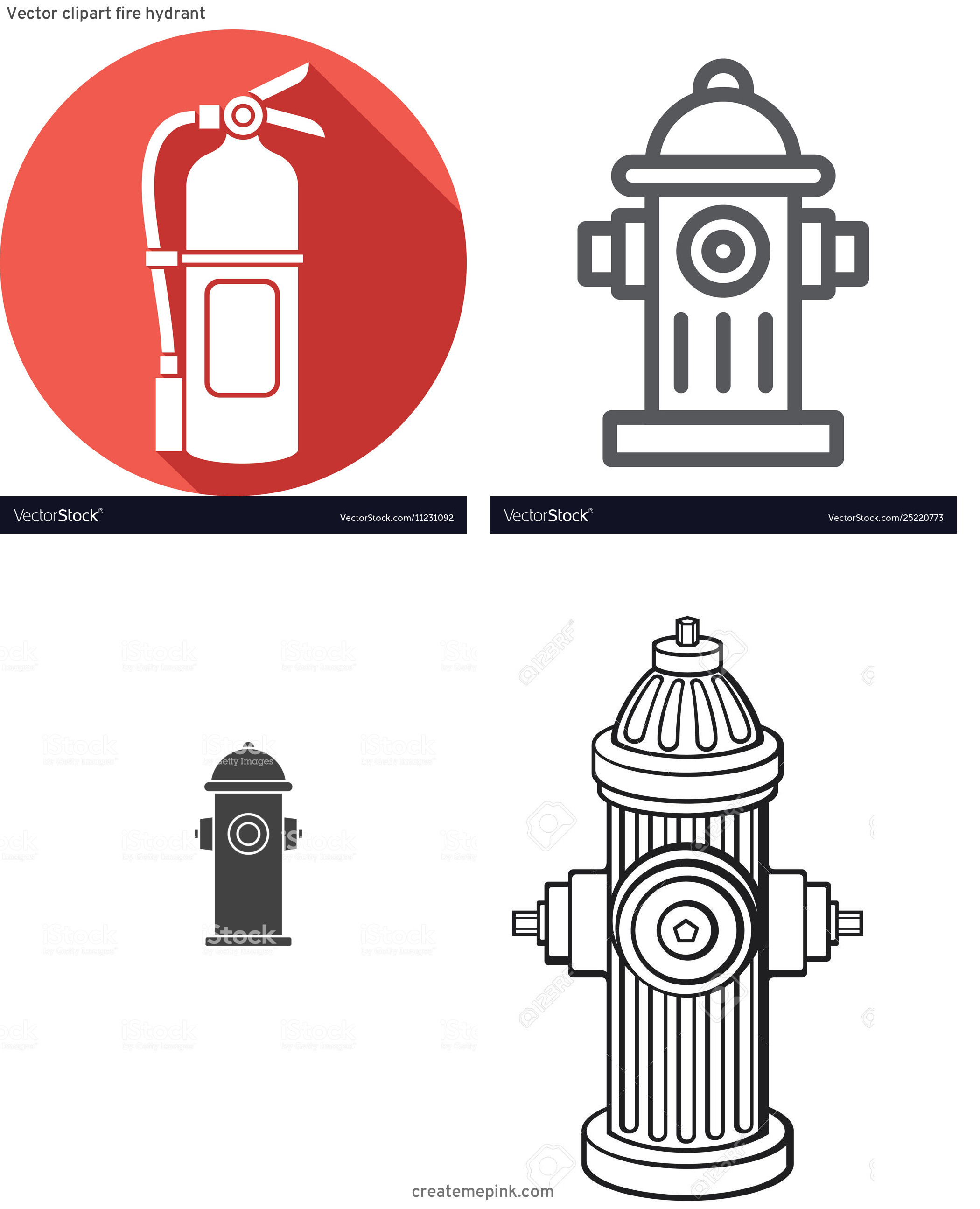 Fire Hydrant Vector Clip Art: Vector Clipart Fire Hydrant