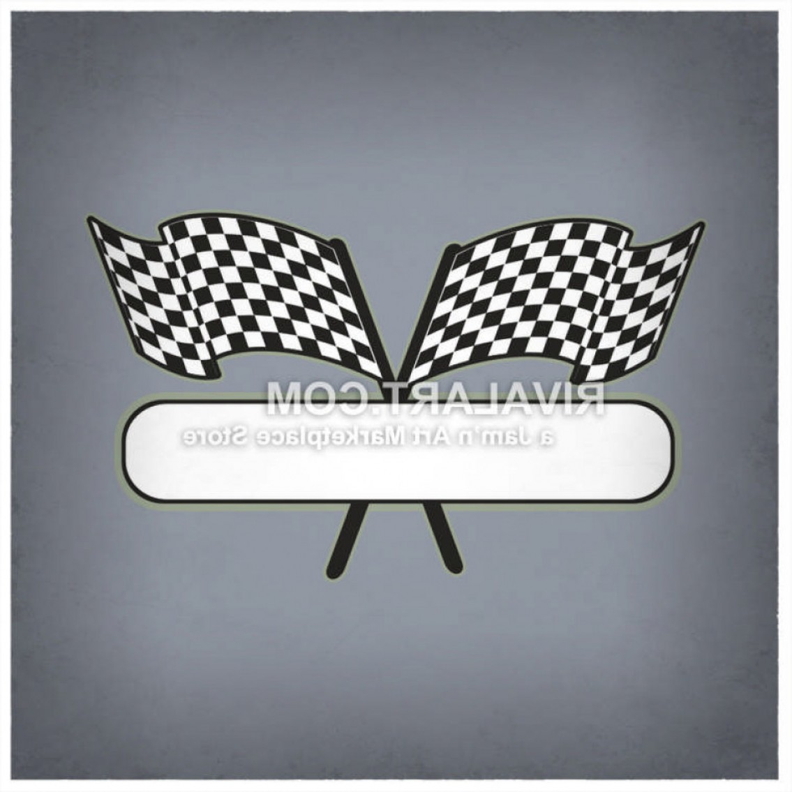 Black And White Vector Racing Graphics: Vector Clipart Of Black White Checkered Flags Race Racing Car Graphic Logo Design