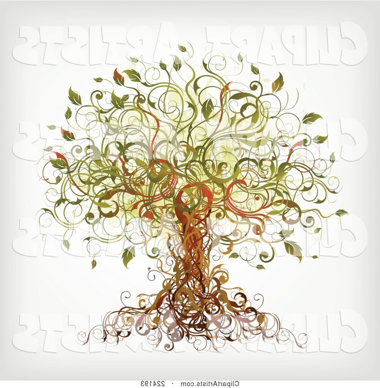 Vector Vine Tree: Vector Clipart Vine Tree By Onfocusmedia