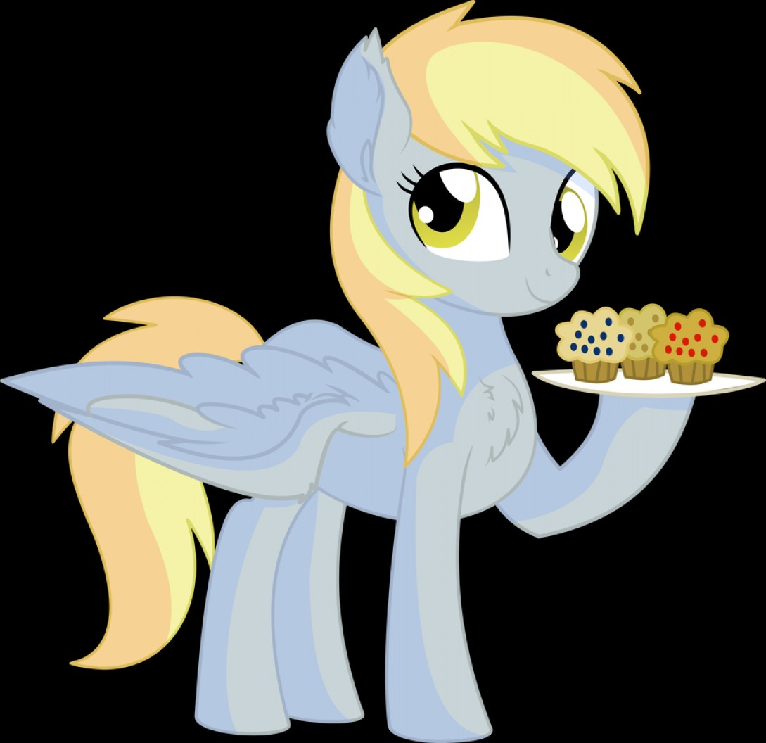 Derpy Hooves Vector: Vector Derpy Hooves And Her Muffin