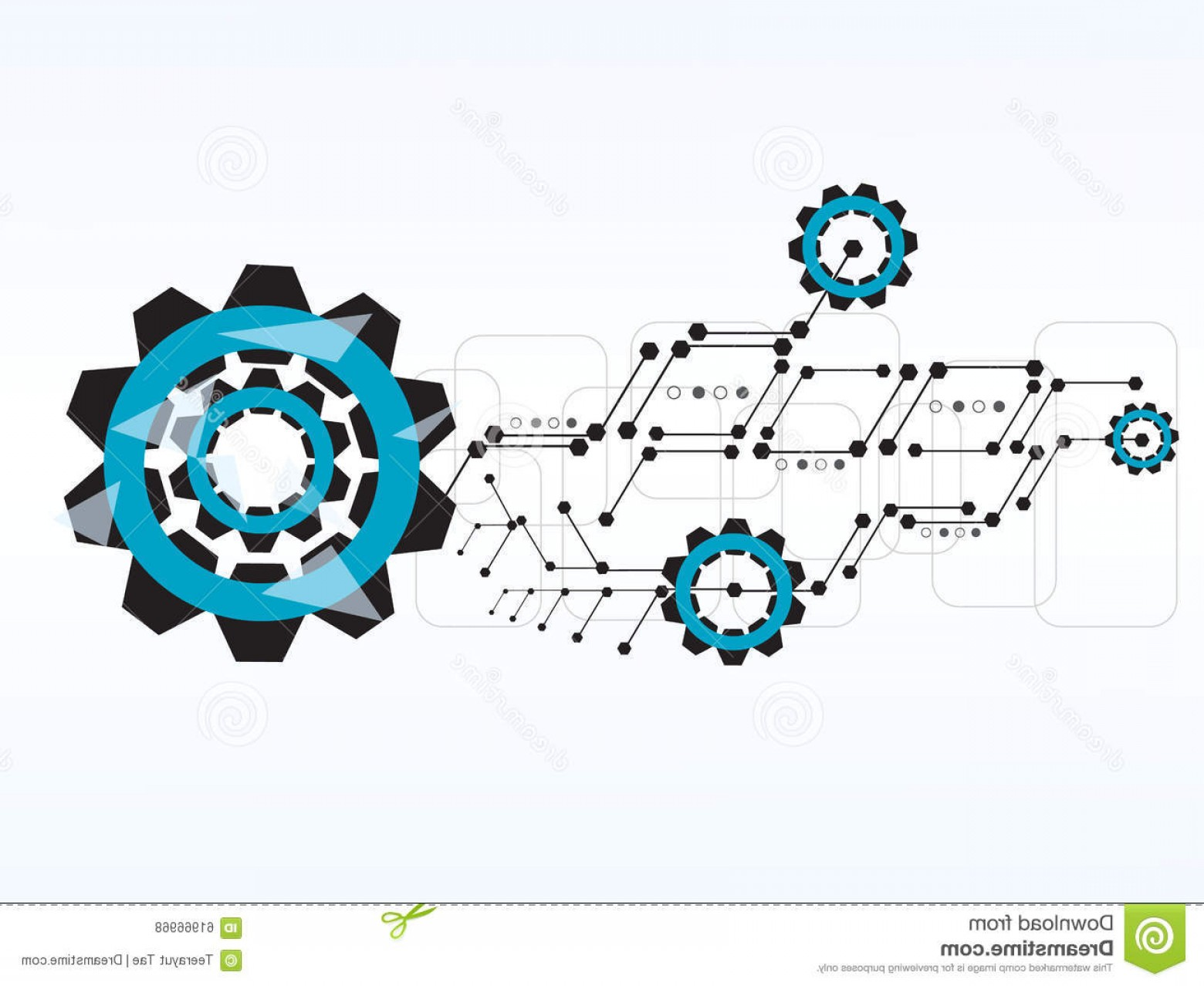 Vector Gear Graphics: Vector Design Technology Gear Cogs Background Illustration