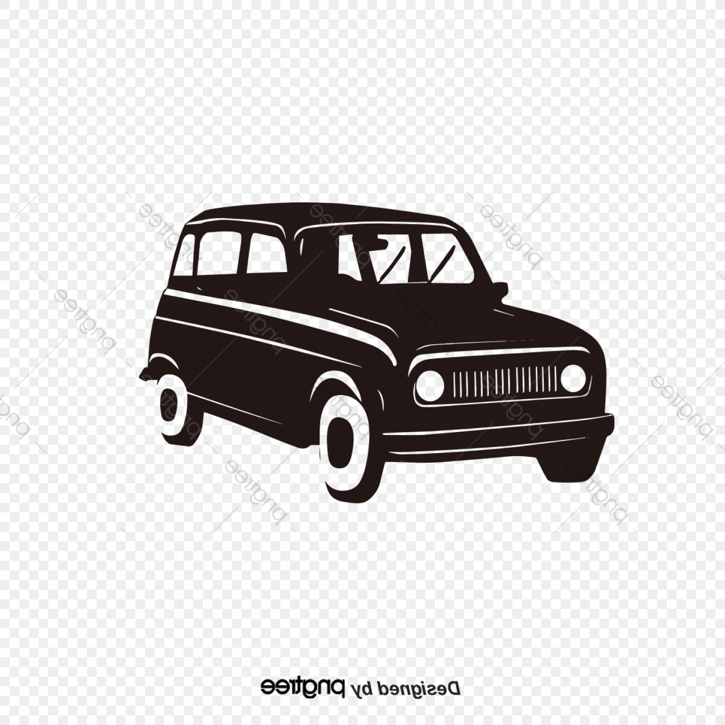 Ford Vector Art: Vector Drawing Retro Ford Classic Cars