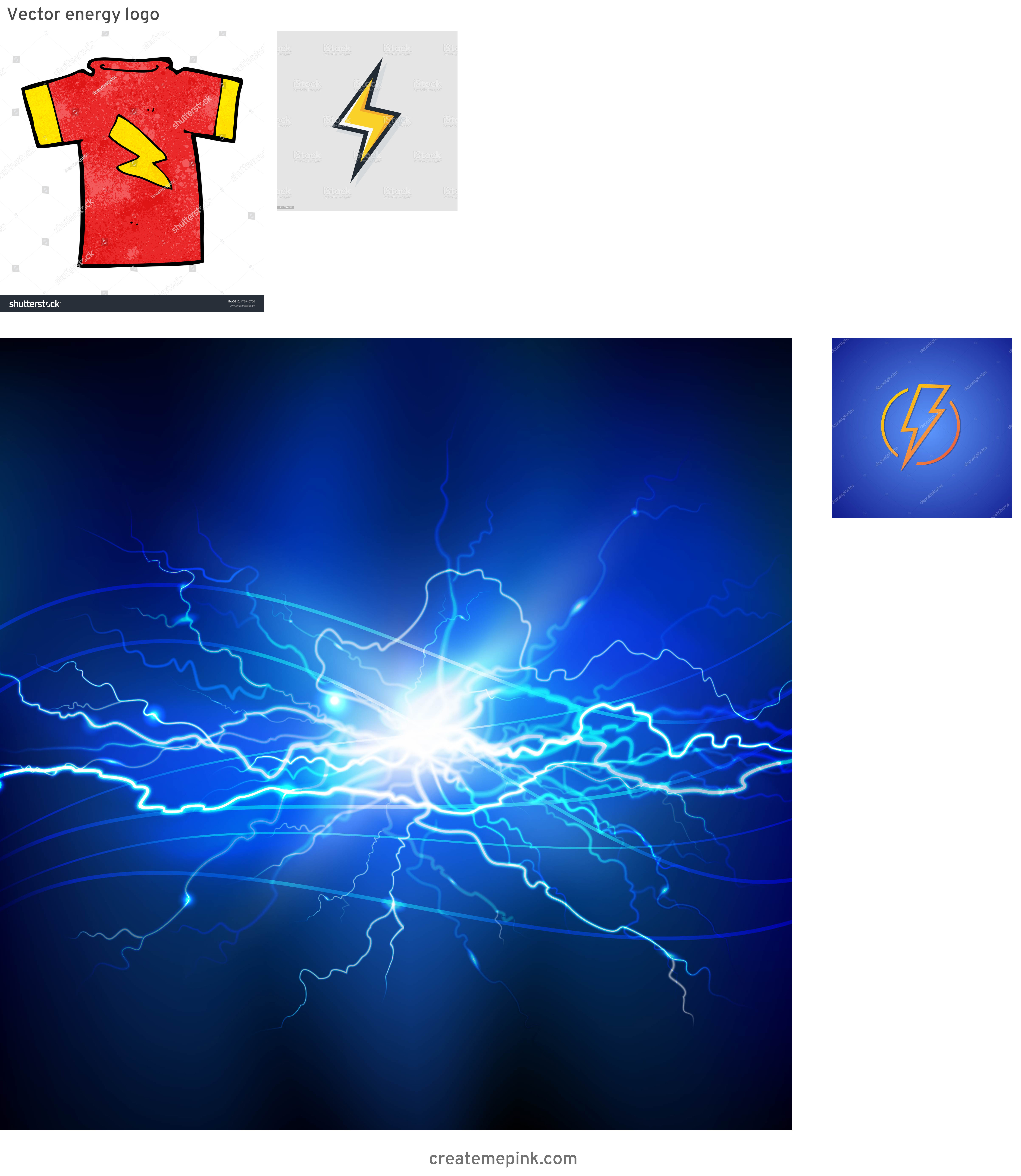 Lightning Vector T: Vector Energy Logo