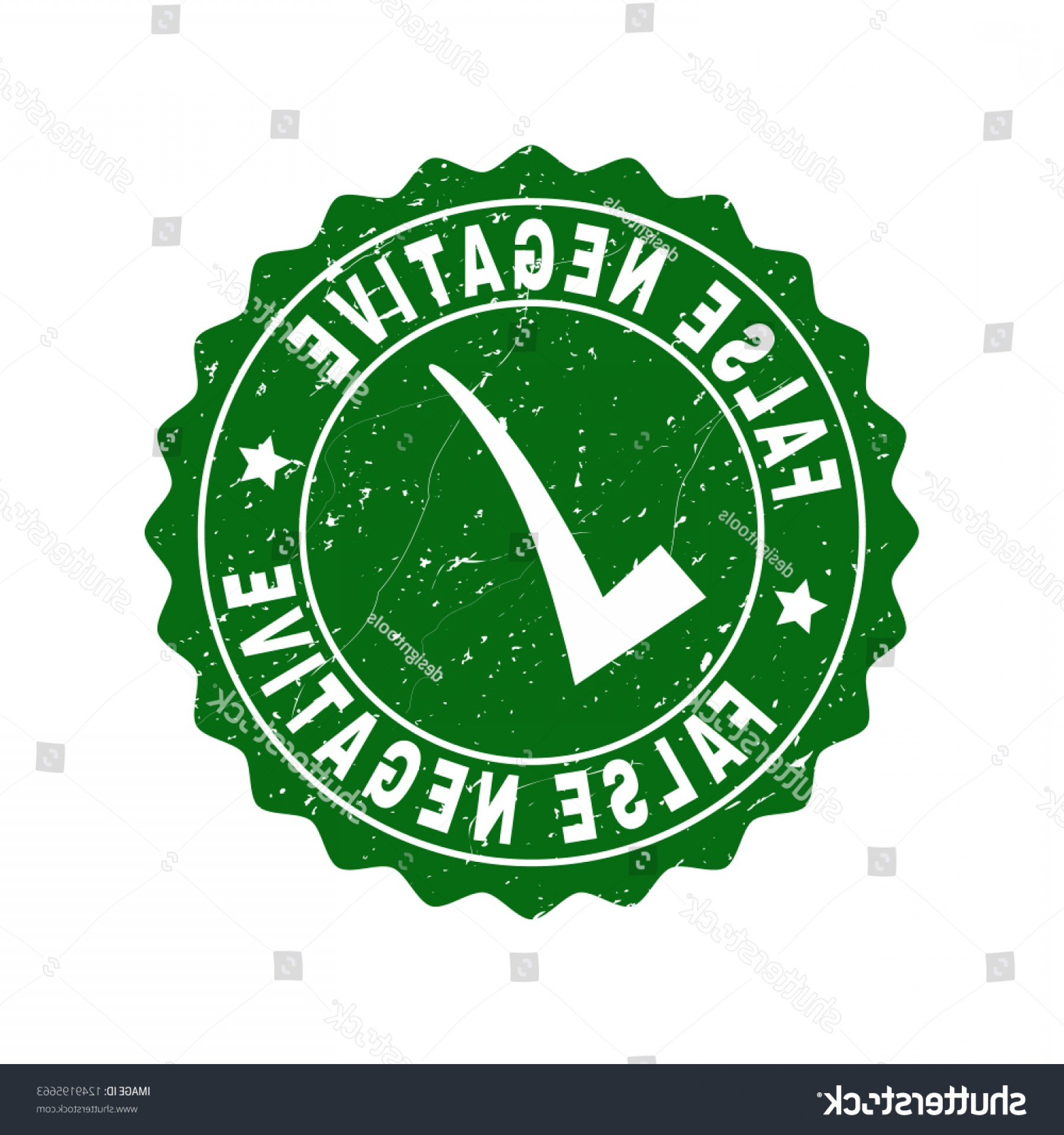False Vector Style: Vector False Negative Grunge Stamp Seal