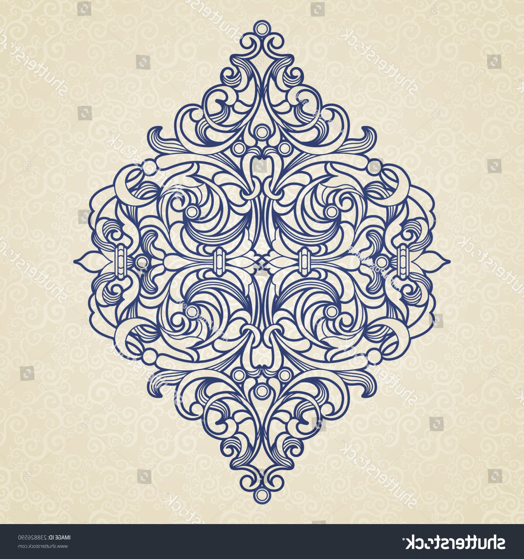 Victorian Ornamental Designs Vector: Vector Floral Pattern Victorian Style On