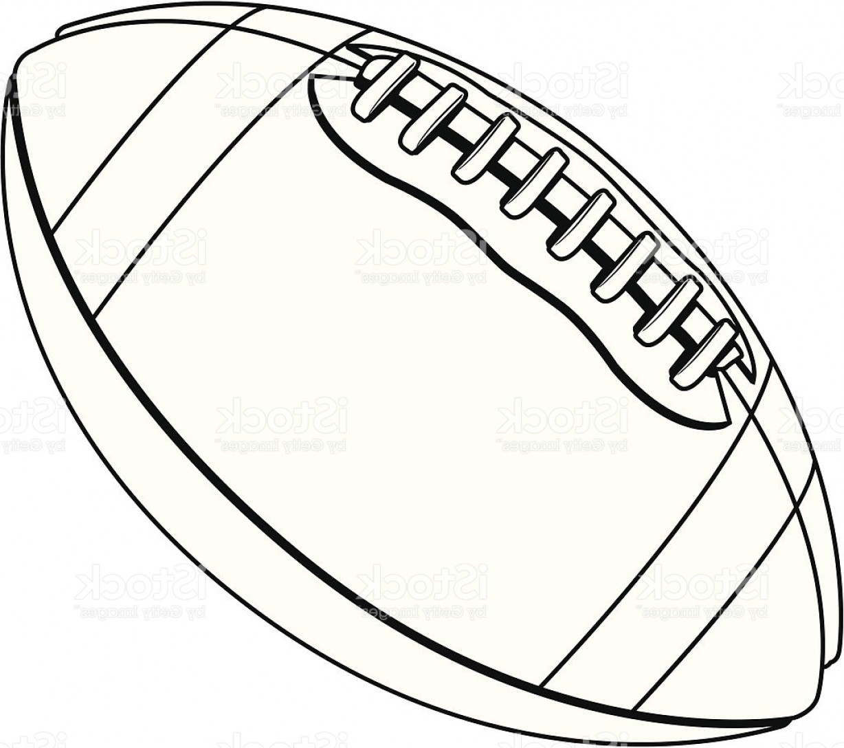 Black And White Vector American Football: Vector Football Black And White Gm