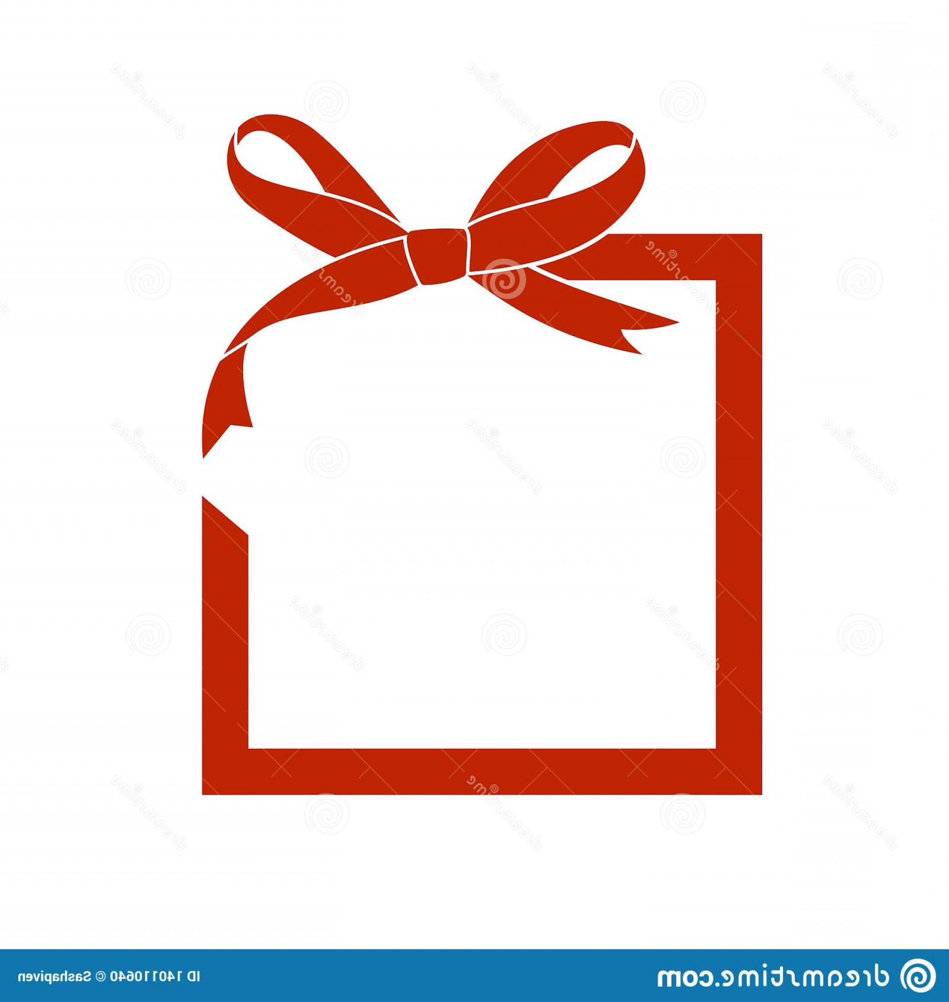 Vector Frame Gift: Vector Frame Gift Red Bow Ribbon Holiday Decorations Empty Sale Design Template Image Image