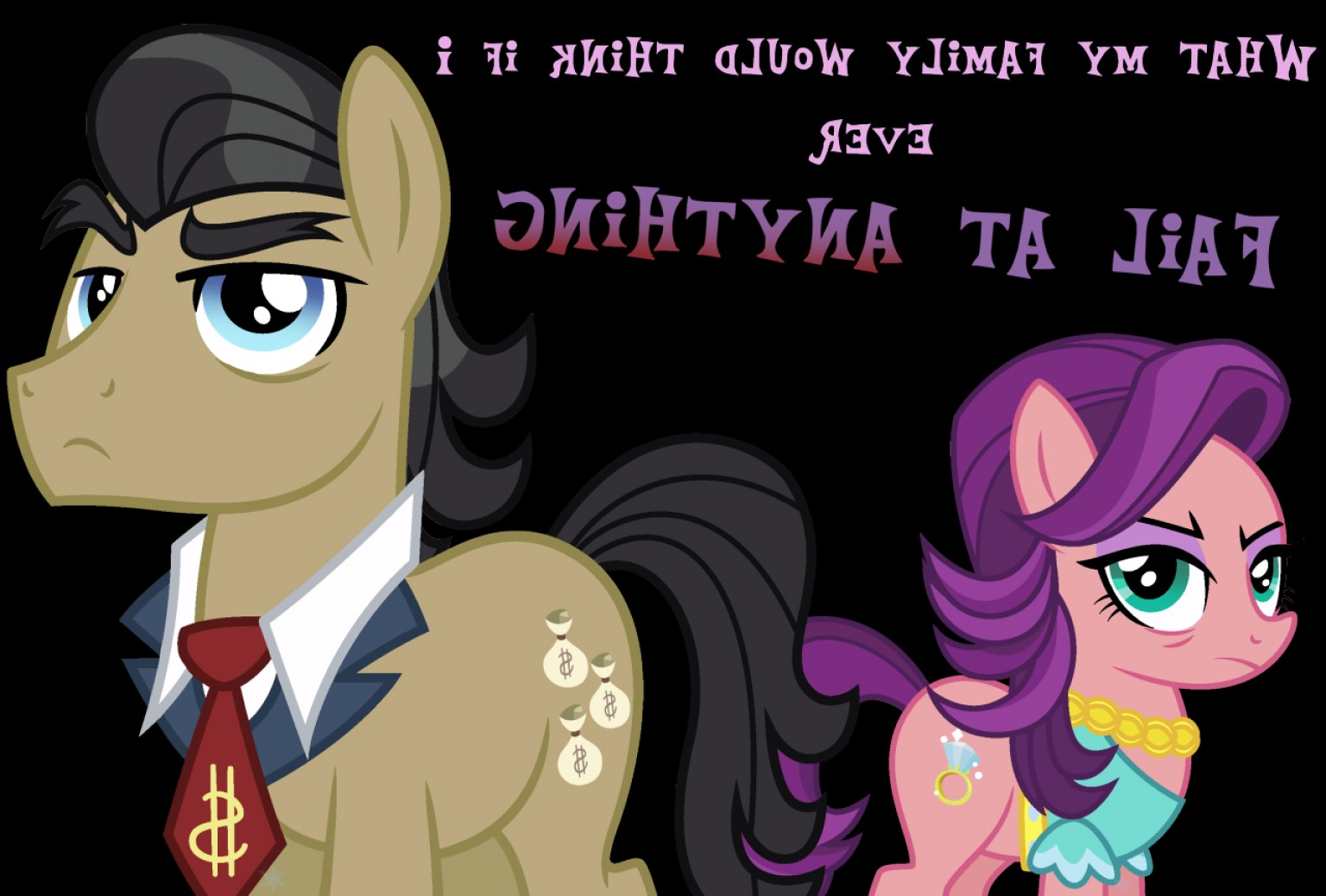 MLP OC Vector Family: Vector From A Recent Mlp Episode Filthy Rich And