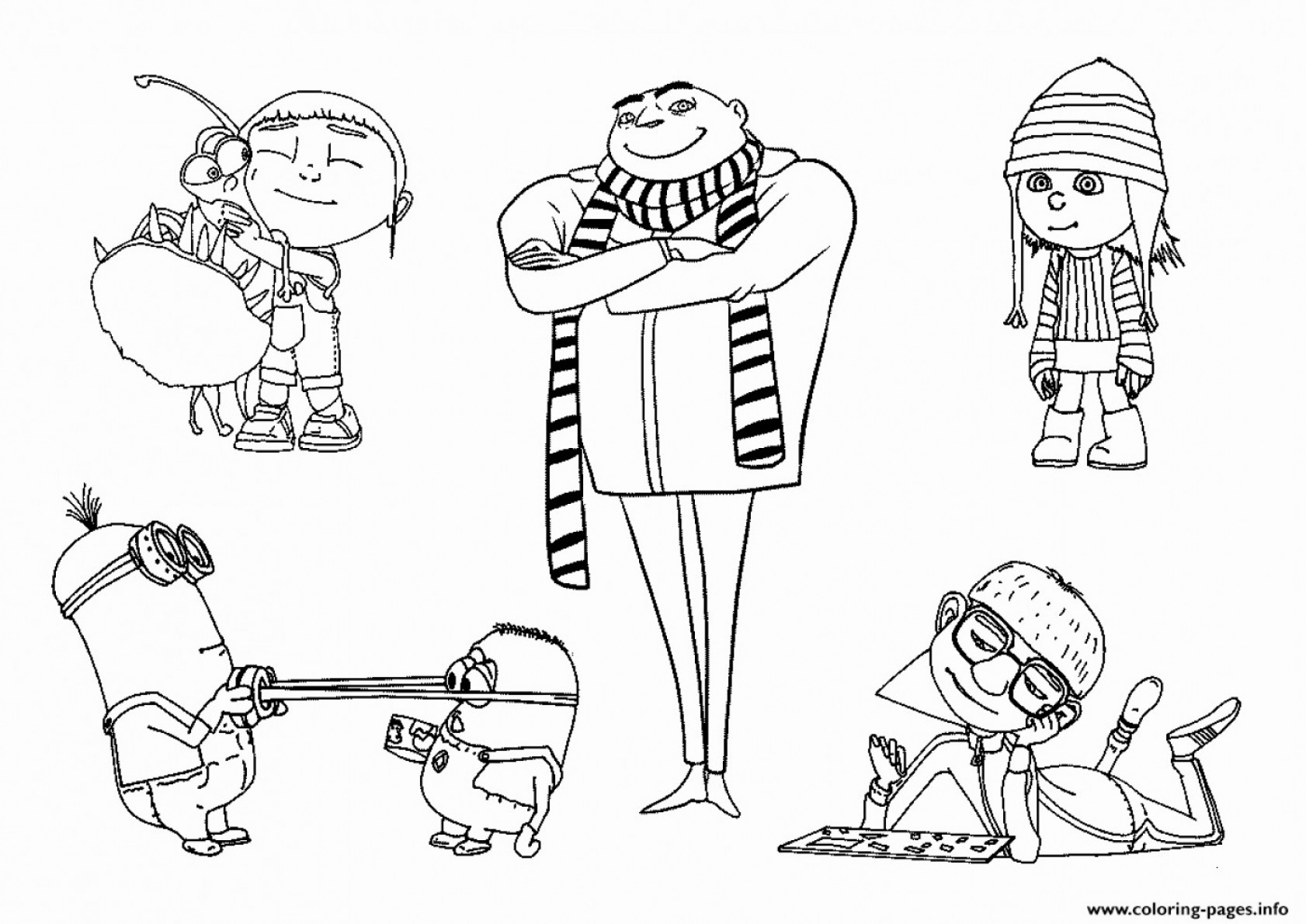 minion coloring pages - Free Large Images | 1190x1682