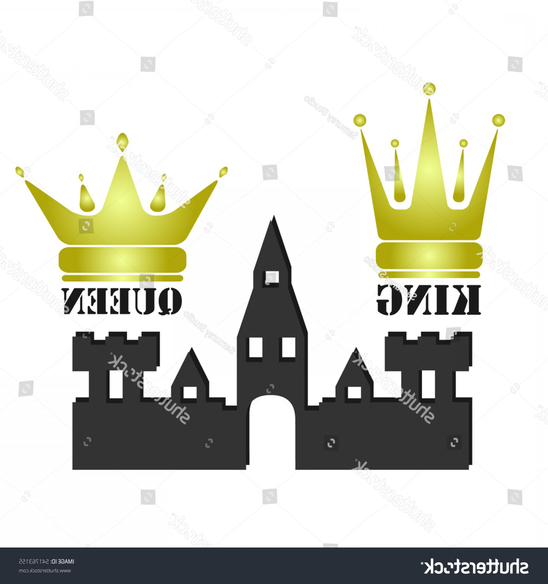 King And Queen Vector: Vector Gold King Queen Crowns Icons