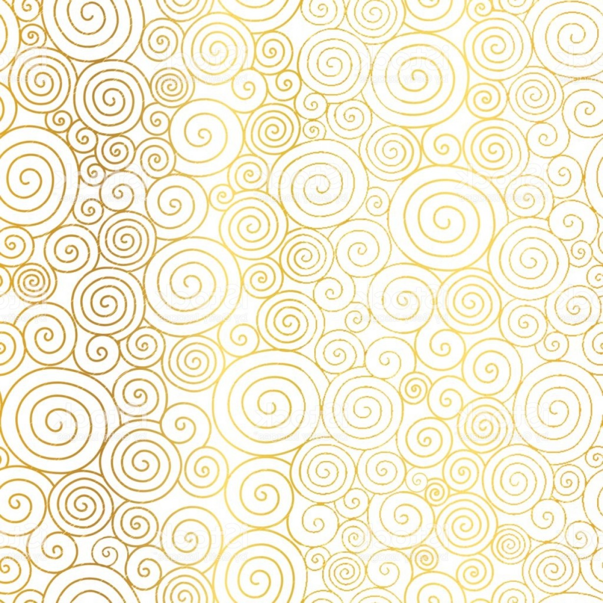 Gold Wedding Swirl Vector: Vector Golden White Abstract Swirls Seamless Pattern Background Great For Elegant Gm