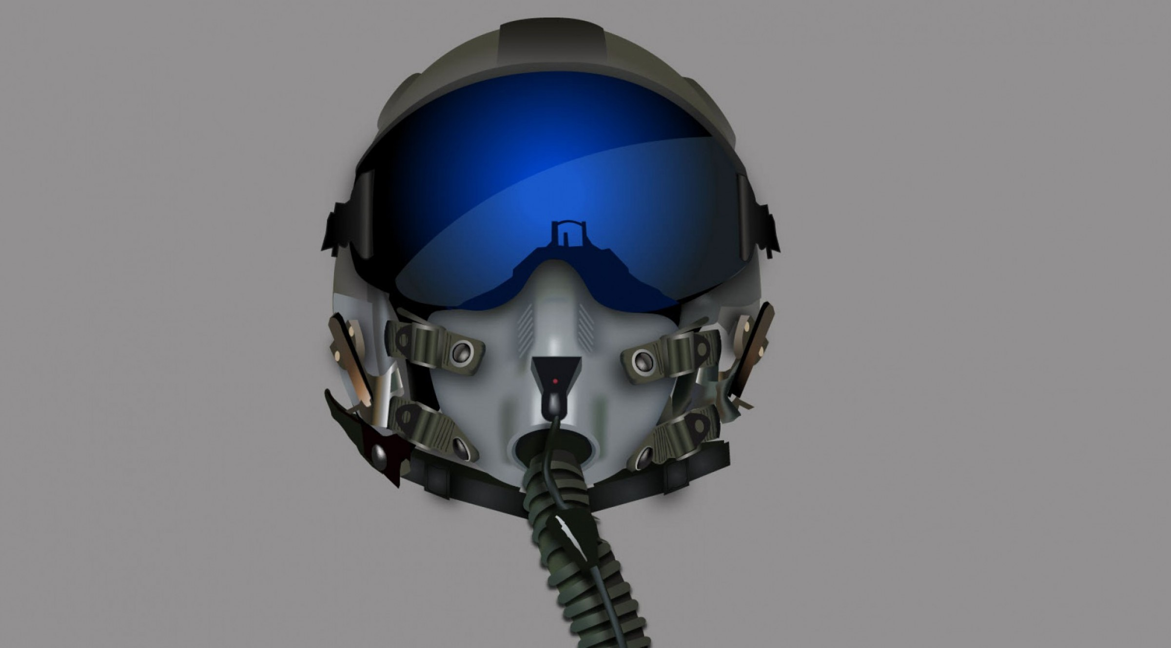 Fighter Helmet Vectors: Vector Gradient Mesh Fighter Pilot Helmet