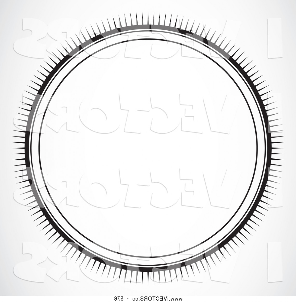 Black And White Circle Vector Graphics: Vector Graphic Of A Black And White Sun Burst Circle On White By Bestvector