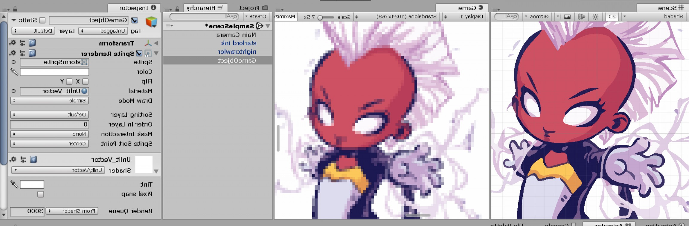 Bitmap To Vector Graphics: Vector Graphics Preview Generating Raster Image In Game Mode