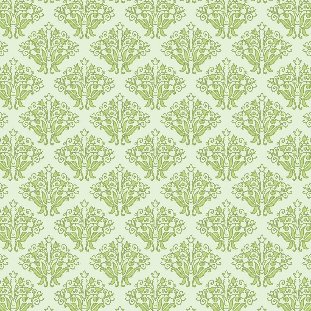 Beautiful Patterns Vector: Vector Green Floral Seamless Pattern
